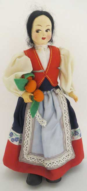 VTG ITALY WITH ORANGES by VARIOUS DOLLS