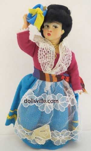 VTG MAGIS DOLL NAPOLI ITALY  by VARIOUS DOLLS