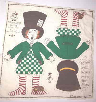VTG 81 MAD HATTER CUT SEW DOLL by New Arrivals