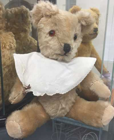BRITISH BABY BEAR WITH BIB by VINTAGE BEARS