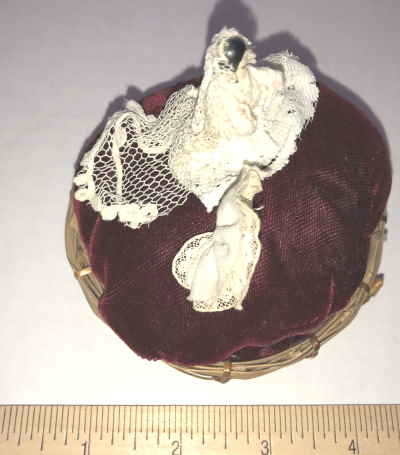 VTG PIN DOLL ON A PIN CUSHION by New Arrivals