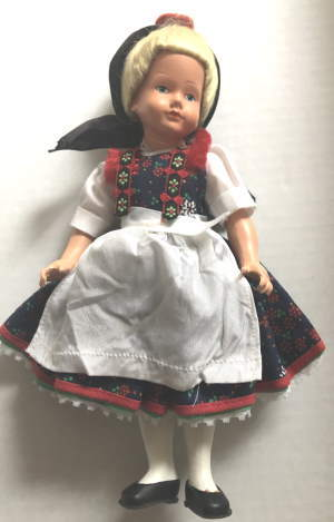 VTG ALPINE GIRL DOLL CELLULOID by New Arrivals
